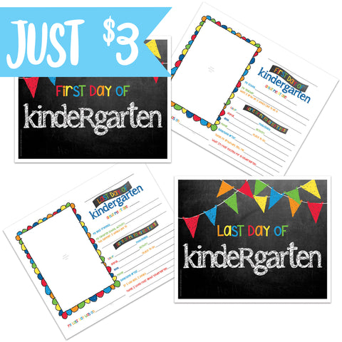 Primary First/Last Day of School Sign Kindergarten on Amazon Prime