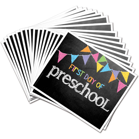 back to school photo prop deck preschool through college pastel flag