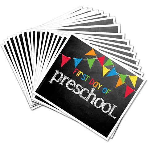 Back to School Photo Prop Preschool to College Deck for Boy and Girl