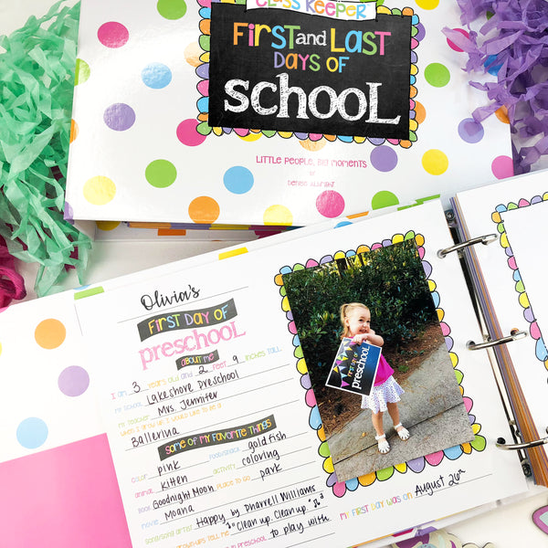 Class Keeper® School Memory Binder in Pastel Polka Dots
