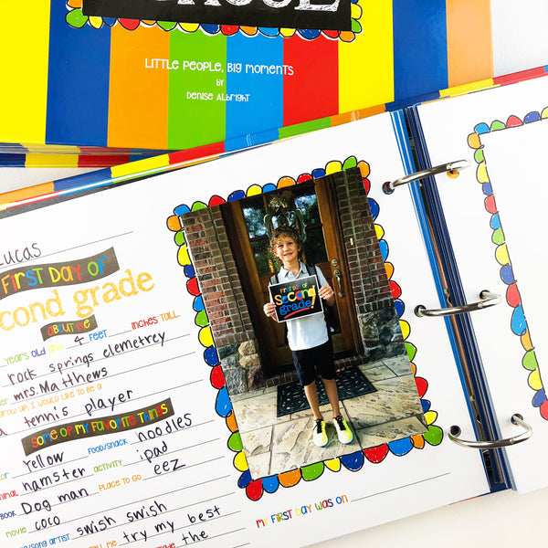 Class Keeper® School Memory Binder in Primary Stripes