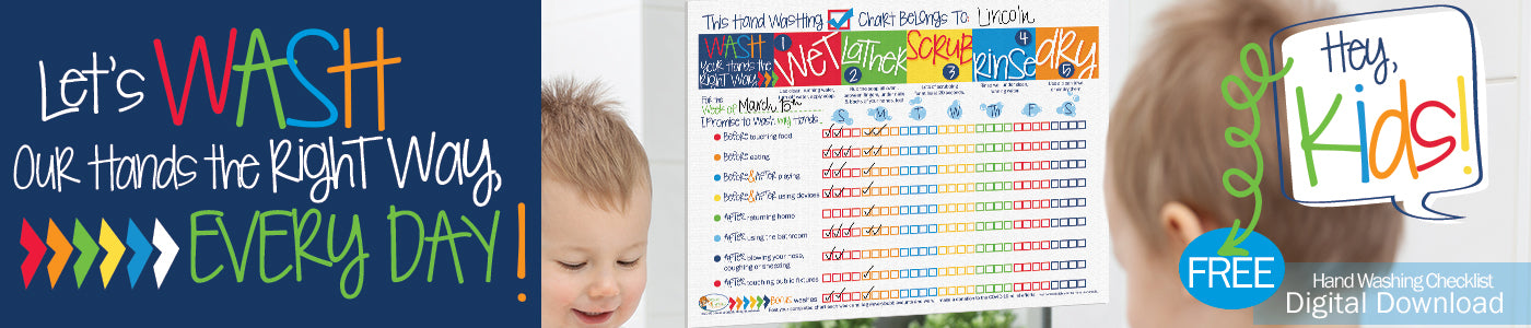 Kid's FREE Hand Washing Chart Digital Download