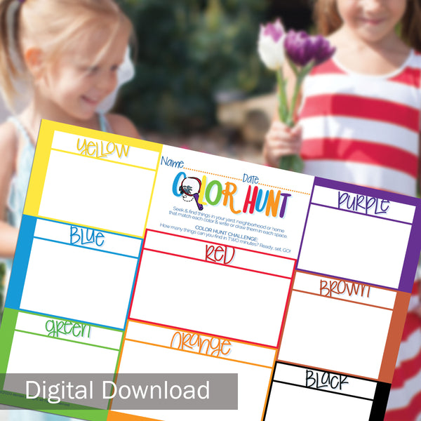 FREE Kid's Color Hunt Printable