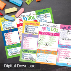 FREE Kid's To-Do List Digital Download