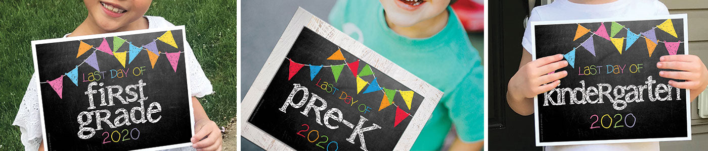 First & Last Day of School Photo Sign Digital Downloads