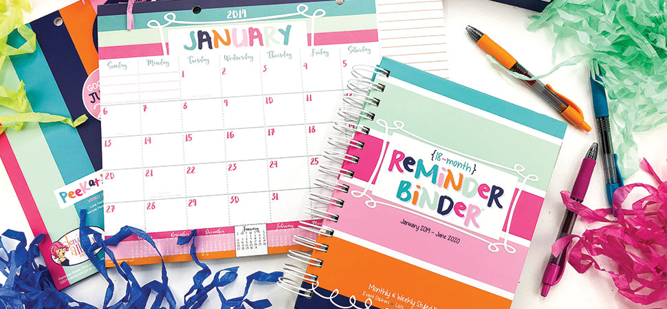 new 2019 collection reminder binder monthly planner pad