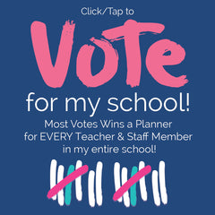 Vote my School for Chance to a Reminder Binder® for EVERY Teacher & Staff Member