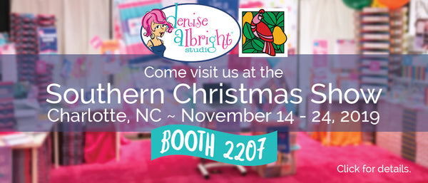 Denise Albright at the Southern Christmas Show Booth 2207