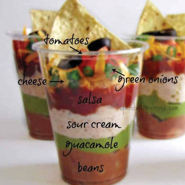 Seven Layer Dip Cup