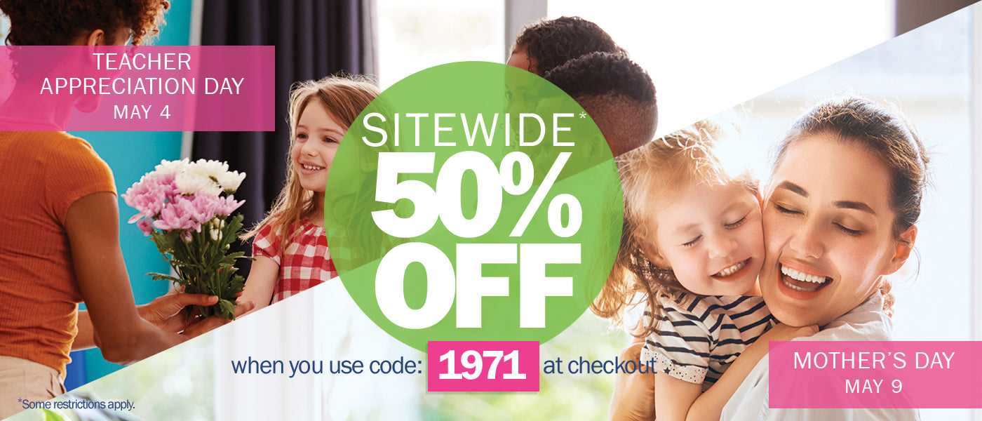 Sitewide 50% OFF