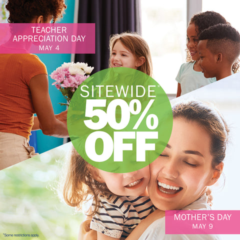 50% OFF Gifts for Moms & Teachers
