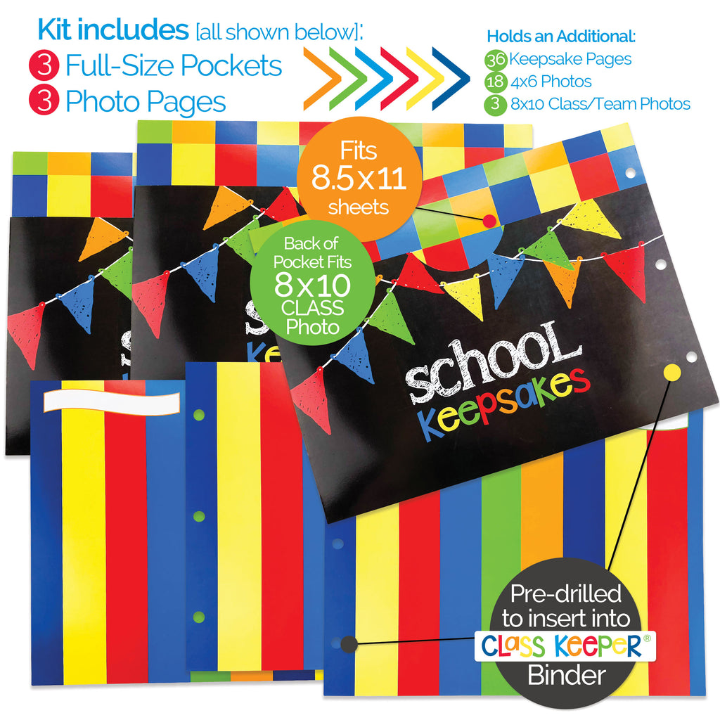 Extra Photo & Pocket Pages Kit for the Class Keeper® | (2) Styles