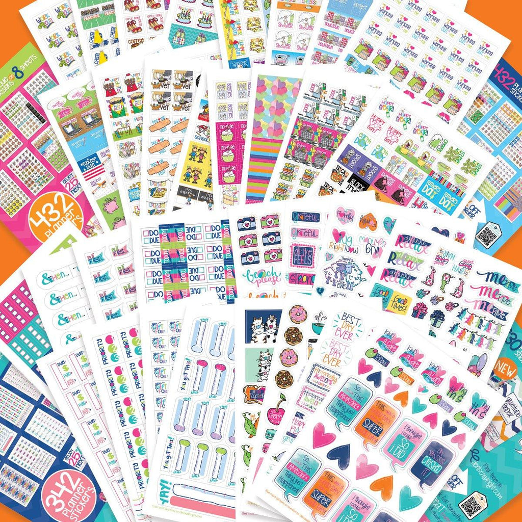 1536 Stickers FANTASTIC Bundle | Family, Goals, Work