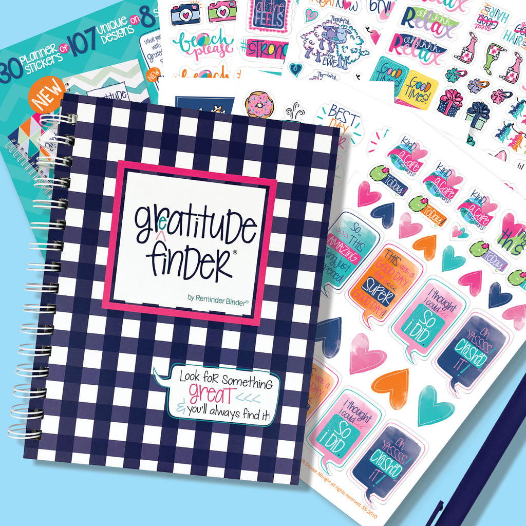 Gratitude Finder® Journal + Sticker Bundle