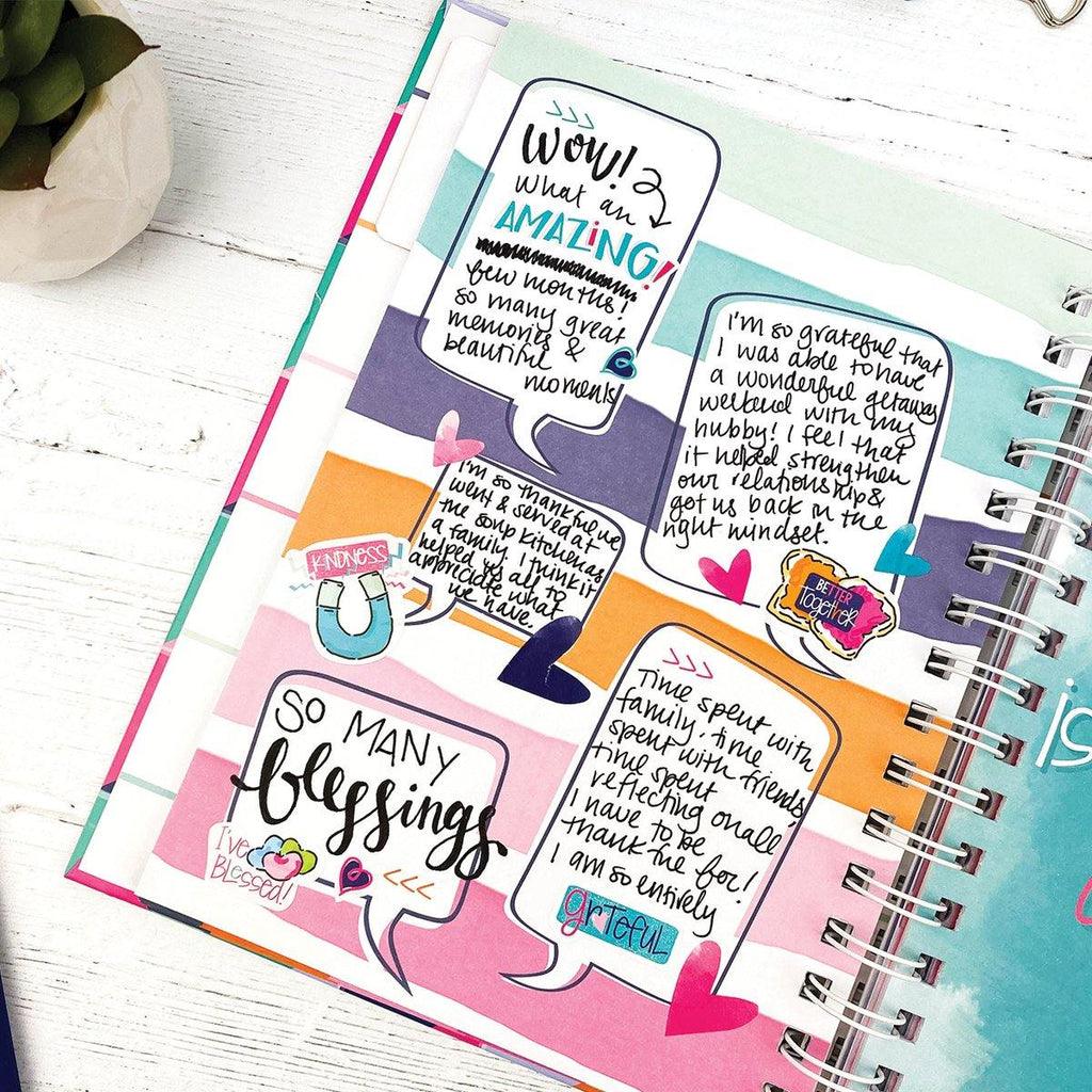 Share the Joy Trio | THREE Gratitude Finder® Journals with 165 Stickers | 12 Styles