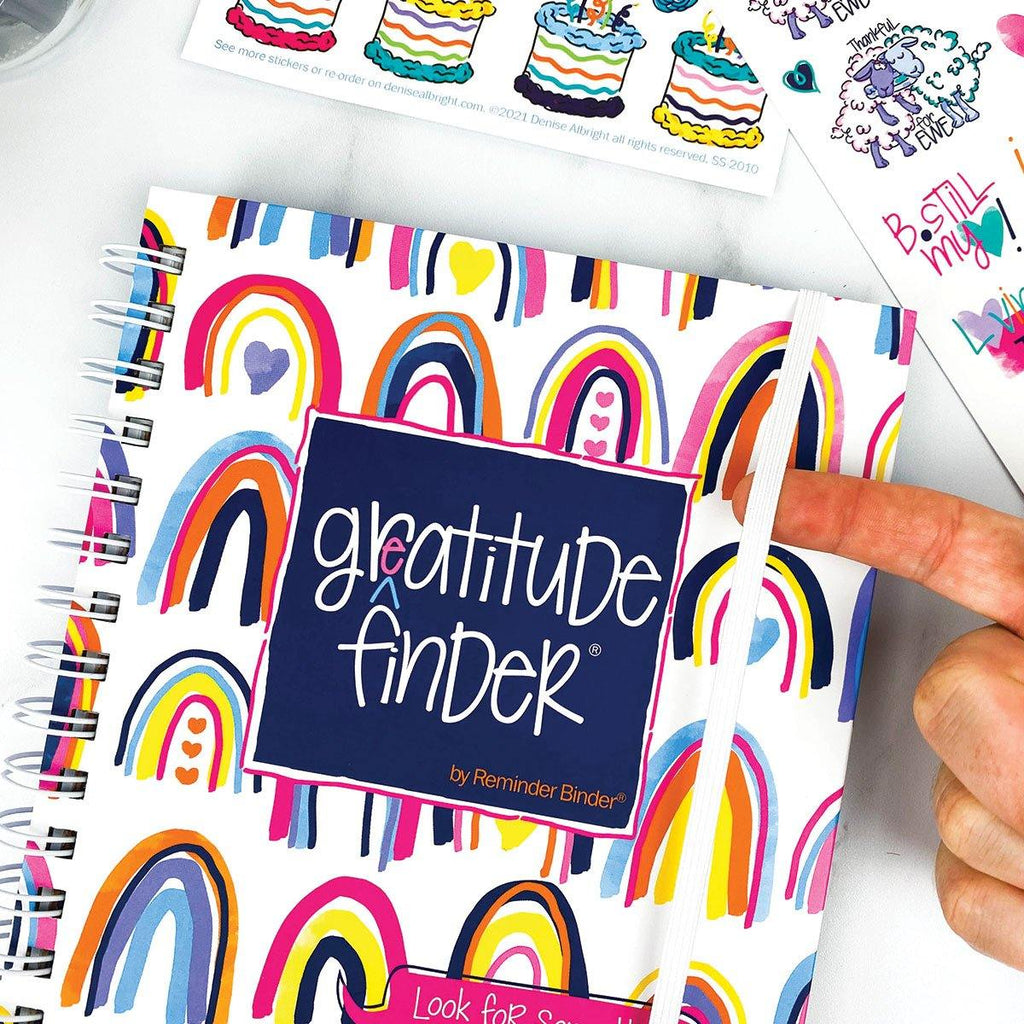 Limited Time Deal | Spread-Joy-not-Germs Bundle | SIX Gratitude Finder® Journals with 165 Stickers | 9 Styles