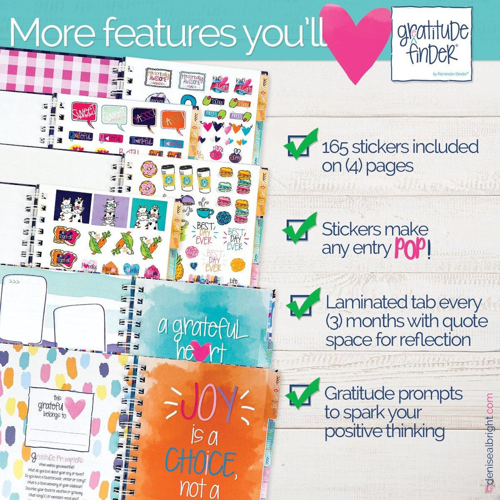 Gratitude Finder® Journal | Confetti Party