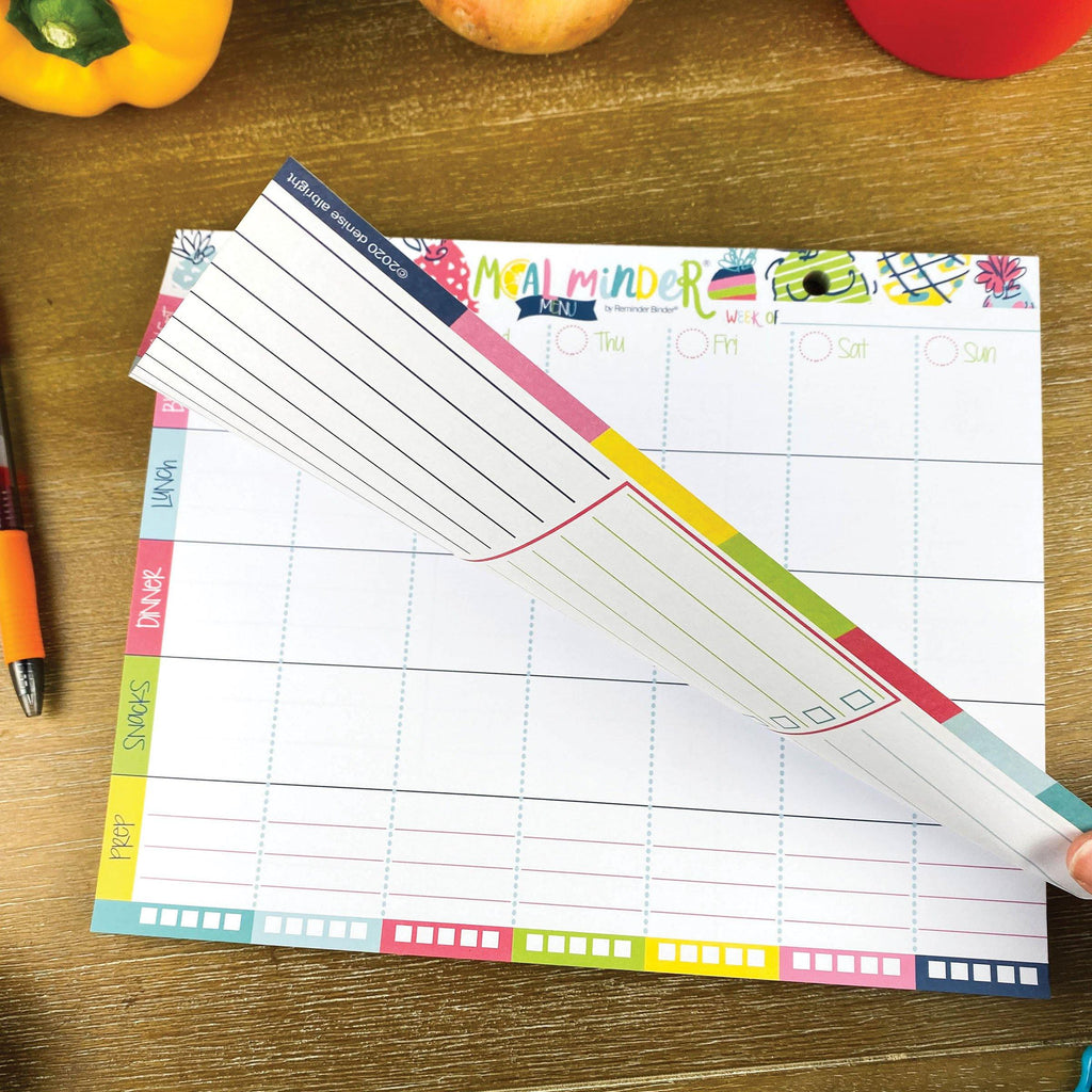 52-Week Meal Minder® Weekly Menu Planner Pad | Grocery List | Bonus Dry Erase Menu Board