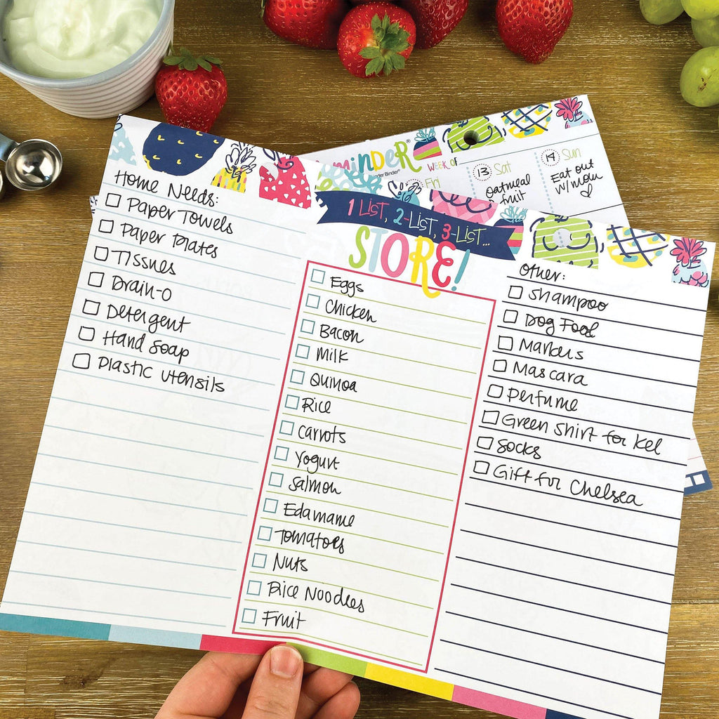 NEW! 52-Week Meal Minder® Weekly Menu Planner Pad | Grocery List | Bonus Dry Erase Menu Board