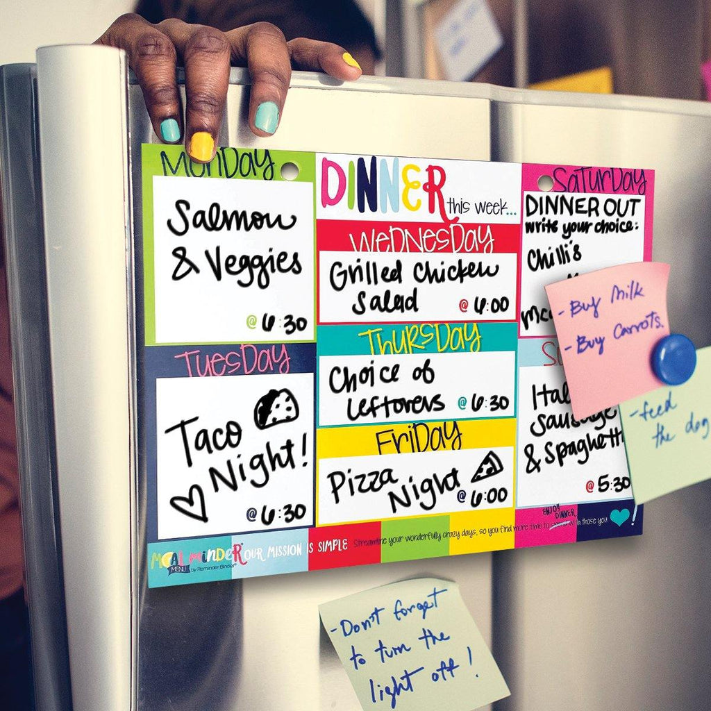 52-Week Meal Minder® Weekly Menu Planner Pad | Bonus Dry Erase Menu Board