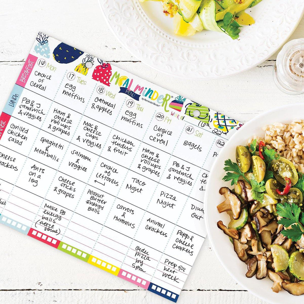 Buy-the-Case BULK Meal Minder® Weekly Menu Planner Pads | Case of 38 Pads