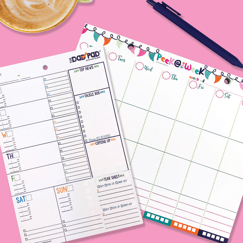 Parental Planner Enhancer Bundle | Two Planner Pads | Weekly Planner Pad AND Dad Pad® Planner
