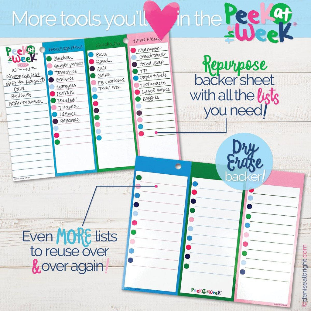 Buy-the-Case Peek at the Week® Weekly Planner Pad | Case of 38 Pads