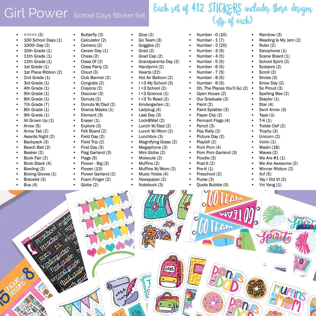 Best Planner Stickers | Family, Work, To-Dos, Events, Goals | 8 Styles