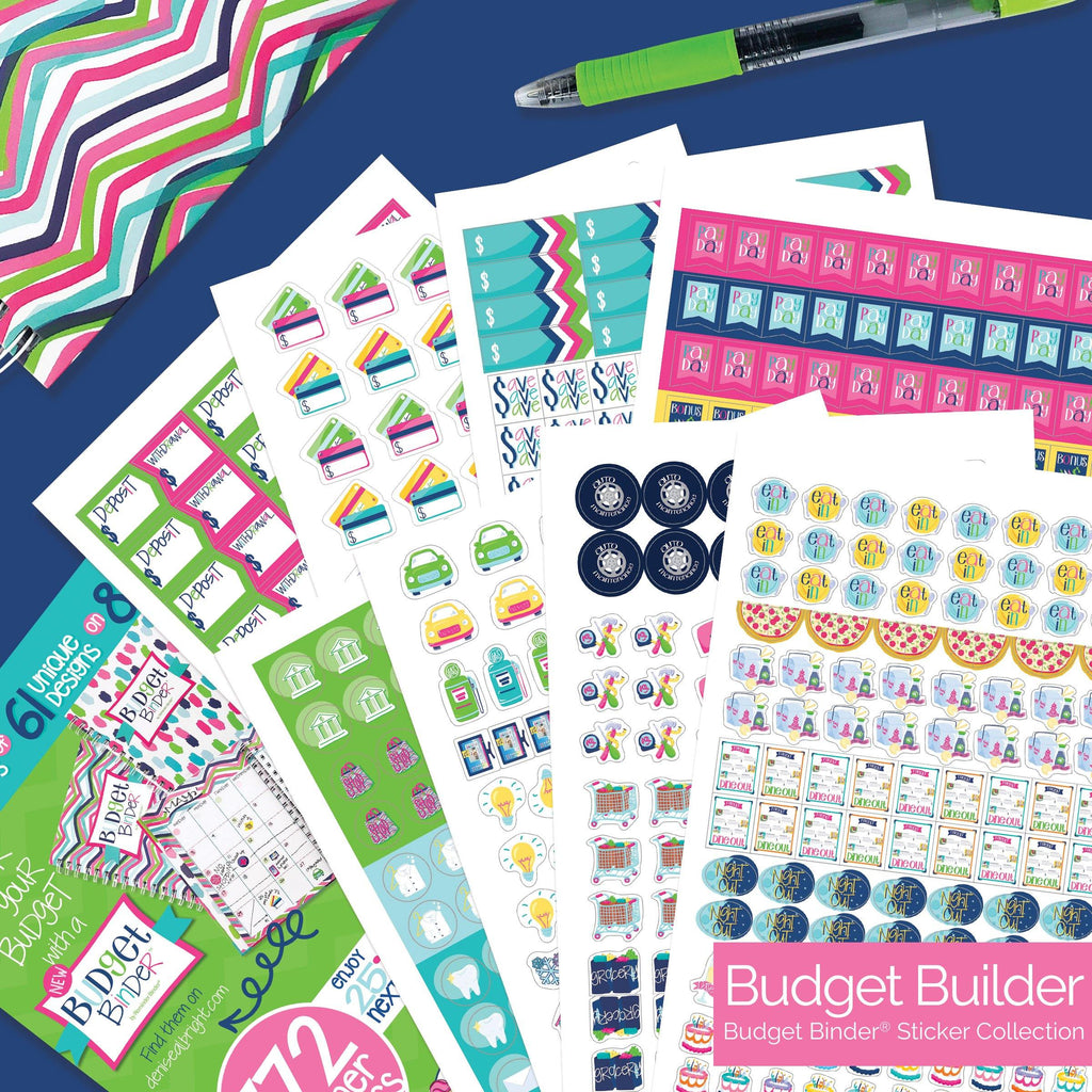 Black Friday Deals | Financial Goals Bundle!  Budget Binder™ Financial Planner + Goal Stickers + Insert Strips