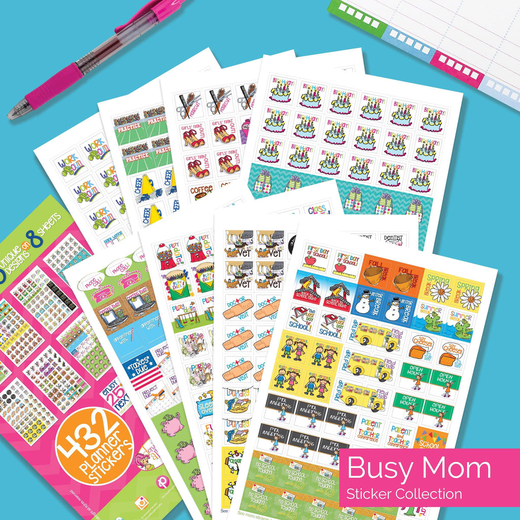 1536 Stickers FANTASTIC Bundle | Family, Goals, Work | Fits Any Planner