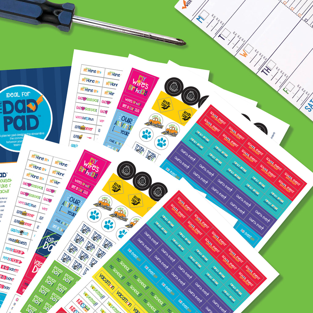 Dad Pad® Man Stickers | Home Organization, To-Dos, Family Events, Etc.