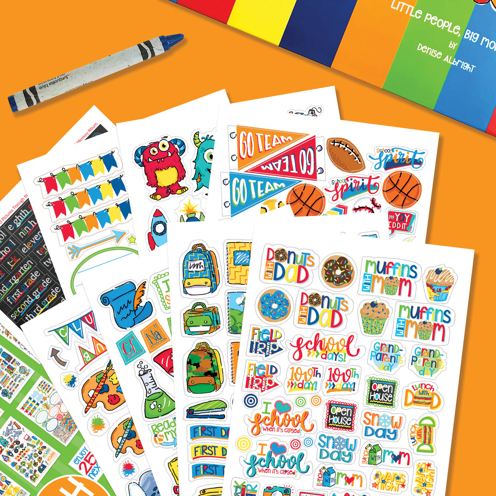 School Rocks Stickers | Kids School Class Keeper® Sticker Assorted Variety Set
