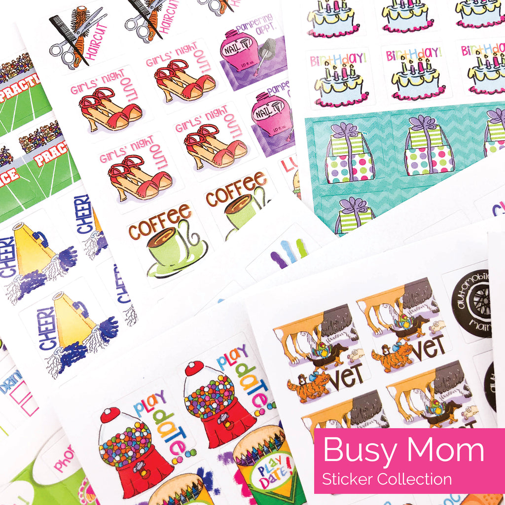 Best Planner Sticker Set for Moms, Busy Women, Goals, To-Dos, Gratitude Journals