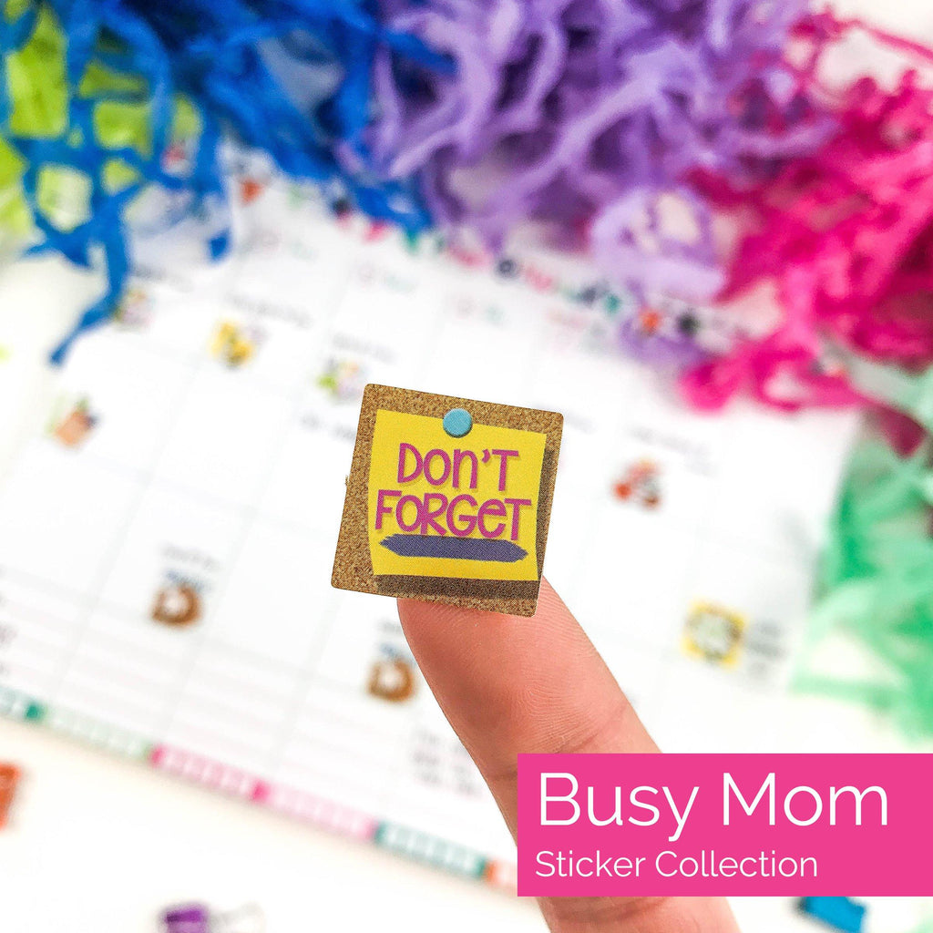 busy mom planner sticker set - kid school events, reminders, holidays, playdates, date night, deadlines, birthdays