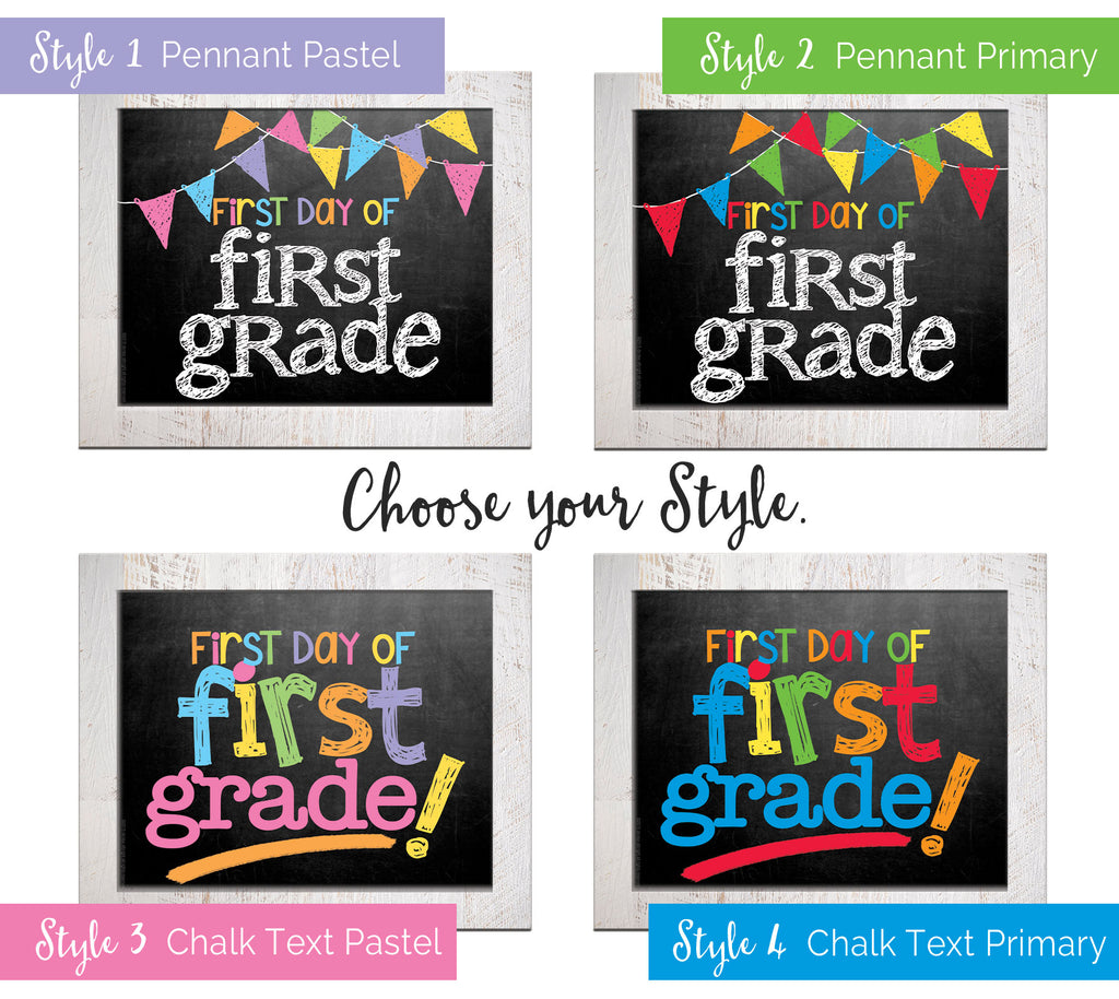 back to school photo props - grade, school, first day of school, last day of school, cute, easy, pictures