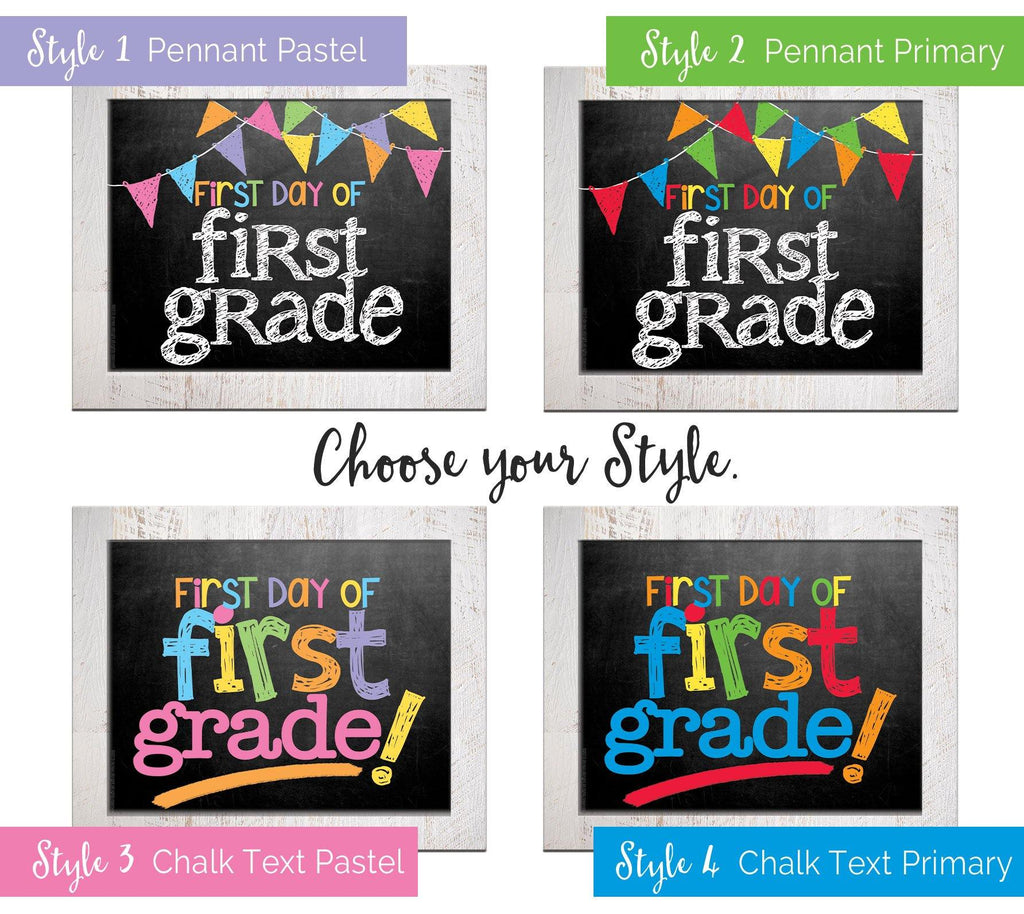 back to school photo prop - boy and girl, grade, school, first day of school, last day of school, pictures, preschool-college