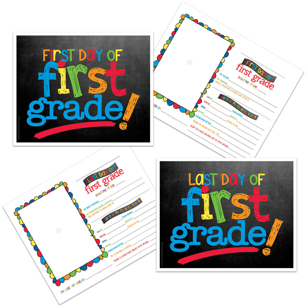 back to school photo prop digital download - first grade, school, first day of school, last day of school, pictures