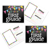 grade cards -  back to school, pictures, first day of school, prop, first grade