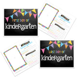 grade cards -  back to school, pictures, first day of school, kindergarten