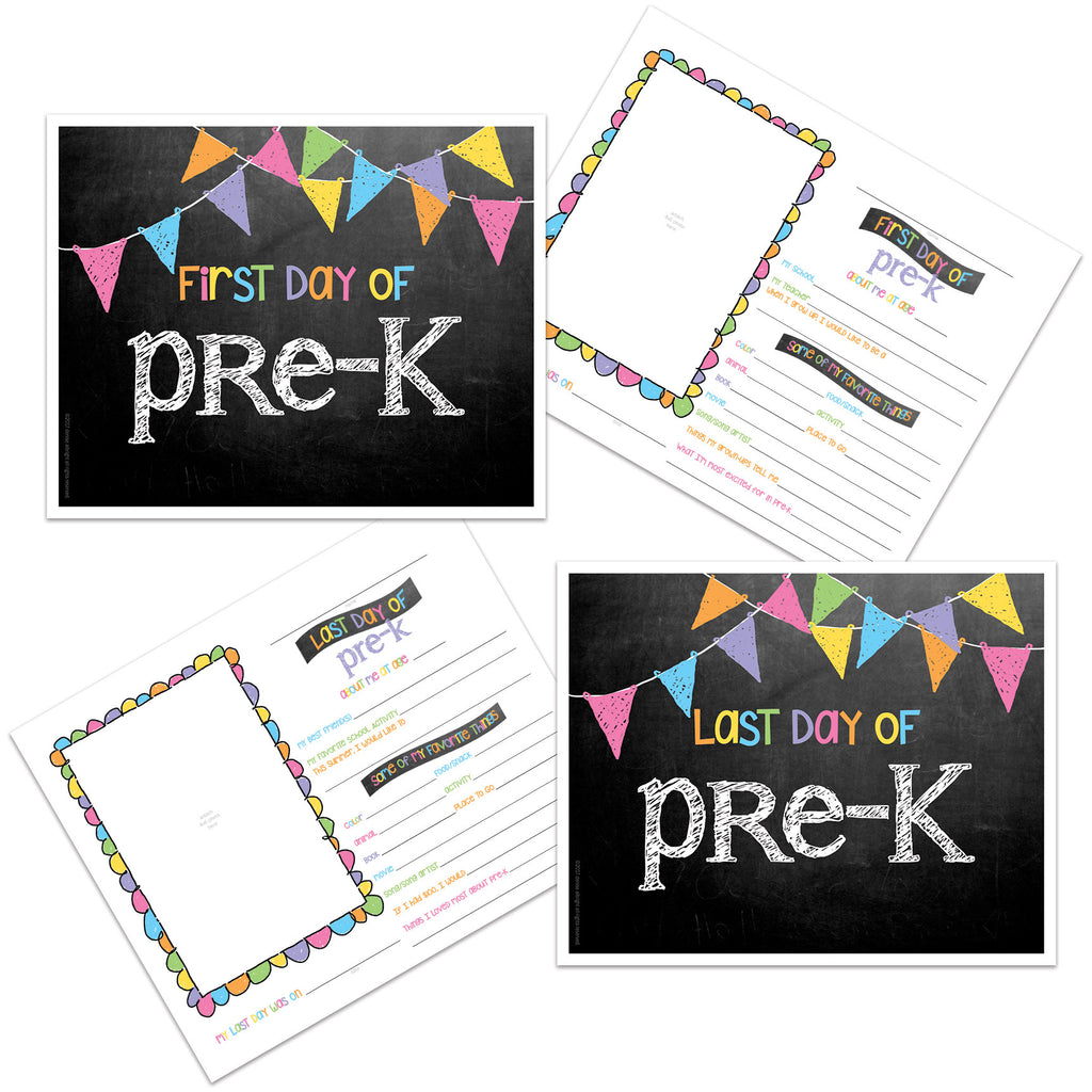 grade cards -  back to school, pictures, first day of school, prop, pre-K