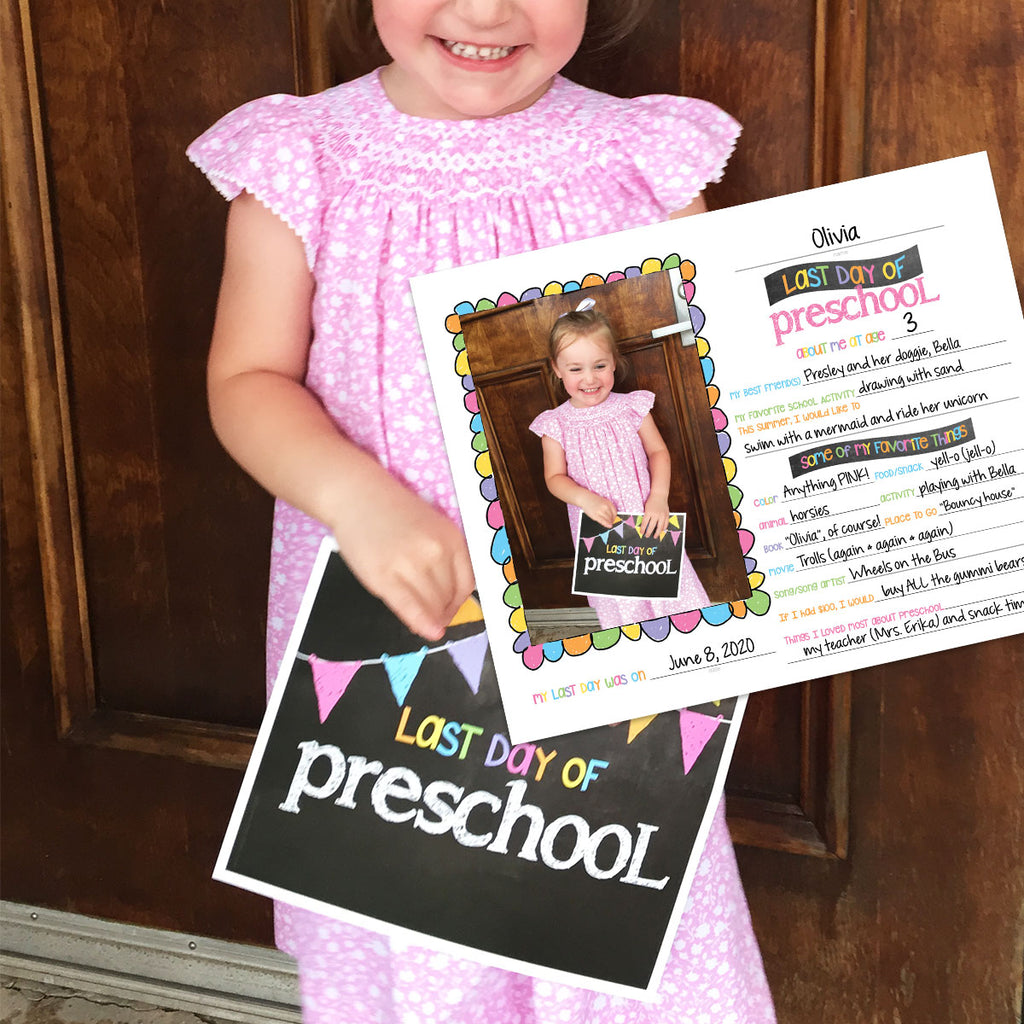 back to school photo prop digital download - preschool school, first day of school, last day of school, pictures
