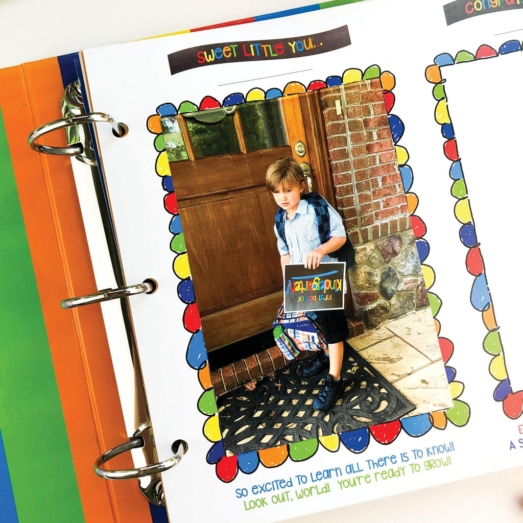 Class Keeper School Keepsake Binder + School Photo Prop Set