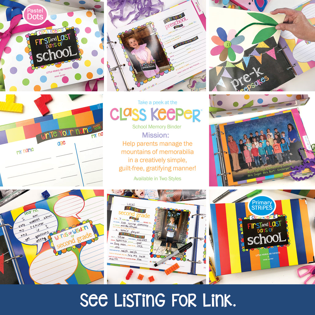 NEW! Extra Photo & Pocket Pages Kit for the Class Keeper® | (2) Styles