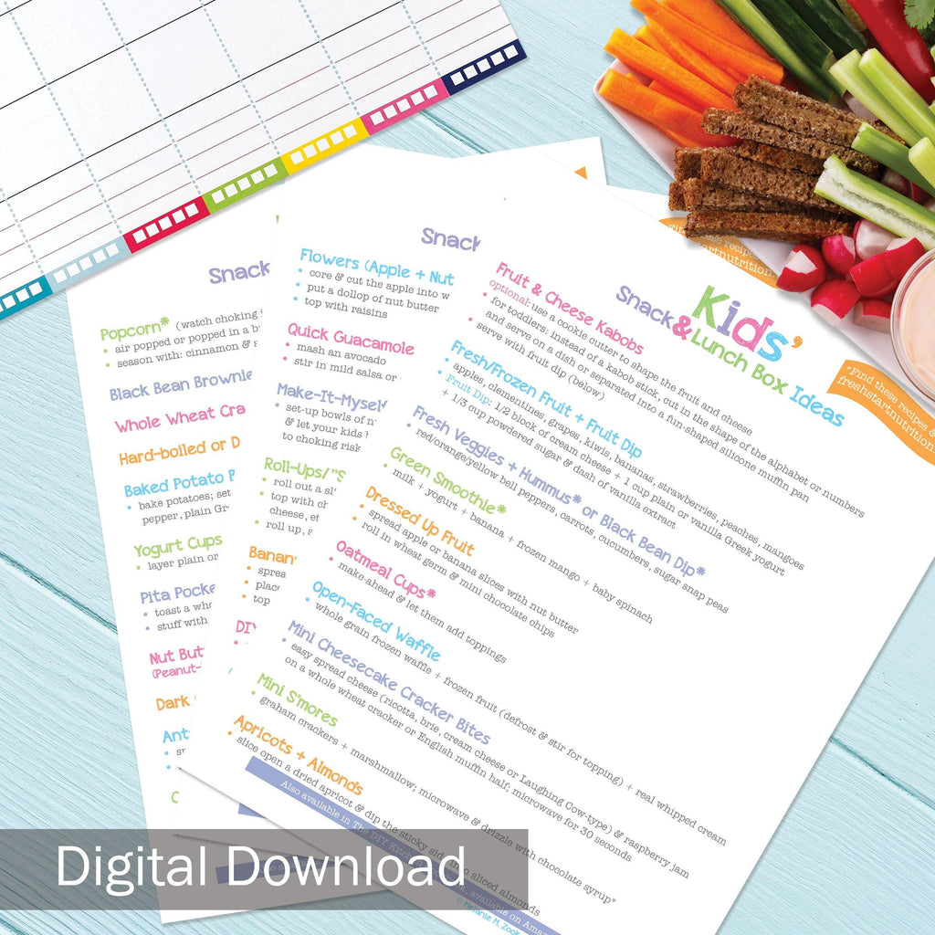 FREE Digital Download | 29 Healthy Kids Snack Recipes | Print-ready, Delivered Instantly