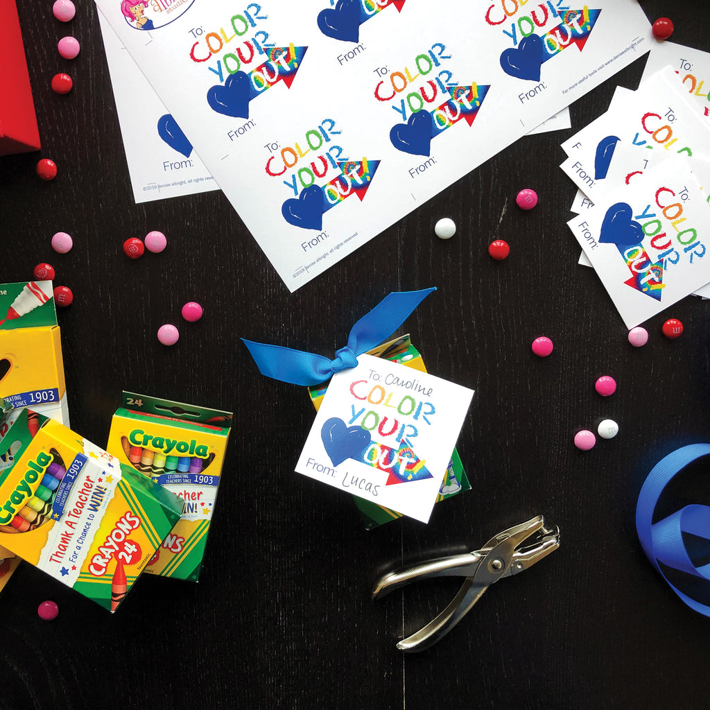 kids valentines day tags free digital download