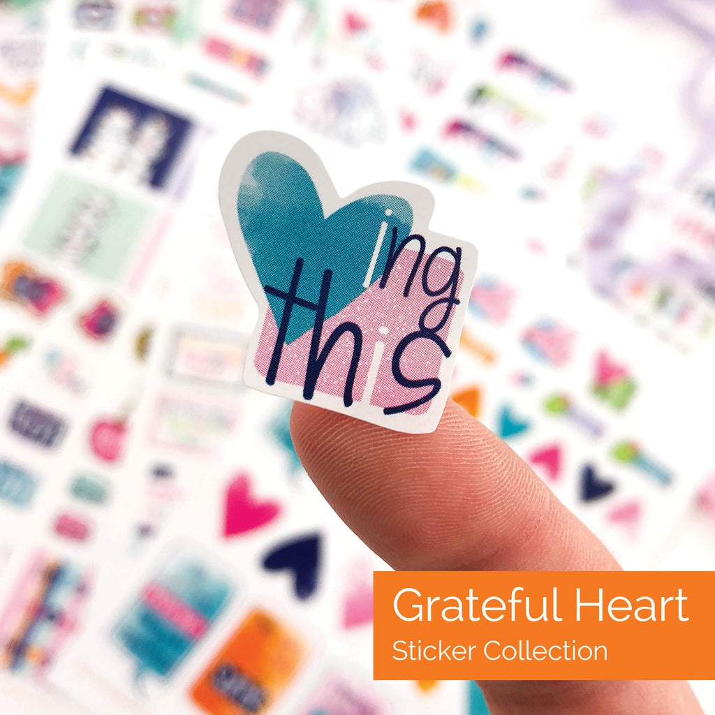 Grateful Heart Journal + Stickers Bundle | 7 Styles