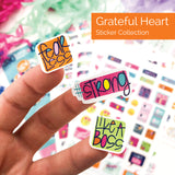 ALL-NEW! Grateful Heart Sticker Set | Best Planner Stickers - Event Variety Set | (5) Styles