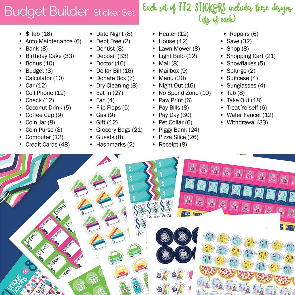 NEW! Budget Planning Sticker Sets | 772 Count Pack