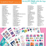 NEW! Planner Stickers Bundle | Fantastic (4) Sticker Set | Includes 1536 stickers | Includes all (4) sets | Fits any planner