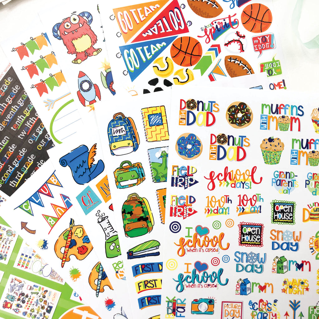 School Rocks Stickers | Kids School Class Keeper® Stickers Assorted Variety Set